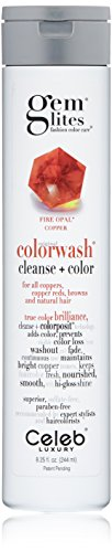 Gem Lites Color Depositing Shampoo: Fire Opal Copper Cleansing Hydrating Colorwash, (Moisture Light Shampoo)
