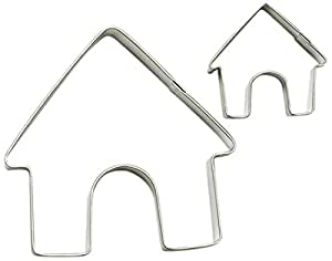Cybrtrayd 000RM1299-1699 R&M Parent/Child Cookie Cutter Set, 3.5-Inch and 1 to 1.5-Inch, Dog House, Tin