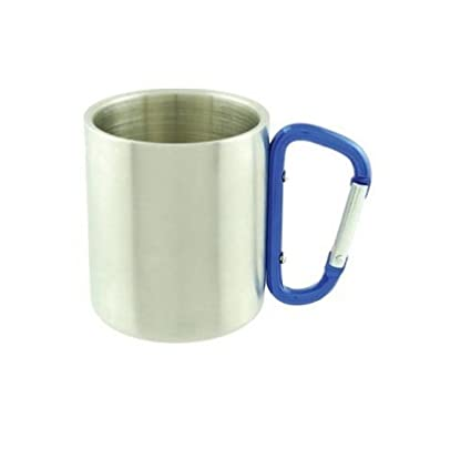 8d209f29207 Carabiner Mug Stainless Steel Cup Hiking Camping 10oz