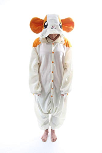 BCozy Kigu Unisex Animal Costume Pajama Onsie Adult Hamster Z One Size Fits Most White