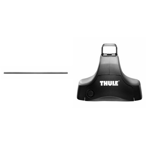 Square Load Bars - Thule LB58 Roof Rack Load Bars (58-Inch, Set of 2) and Thule 480 Traverse Foot Pack (Set of 4) Bundle
