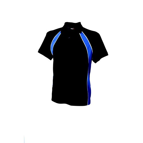 Finden & Hales LV350 Performance Team Polohemd Marineblau/Royal/Weiß M