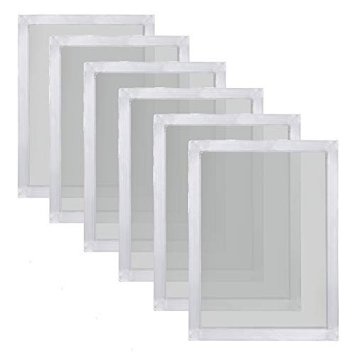 Caydo 6 Pieces 20 x 24 Inch Aluminum Silk Screen Printing Frames with 160 White Mesh for Screen Printing