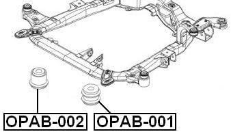 Body Bushing For GM Vehicles 9223022