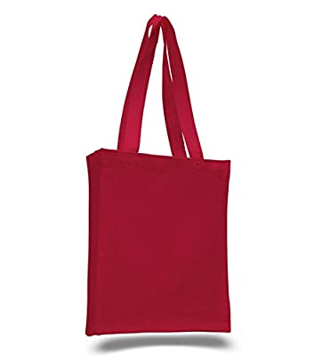 Christmas Gift Tote Bag Red Color Valentines Day Gift Bag Holiday Party Favor Gift Bags Small To Large DIY Eco-Friendly Reusable Multipurpose