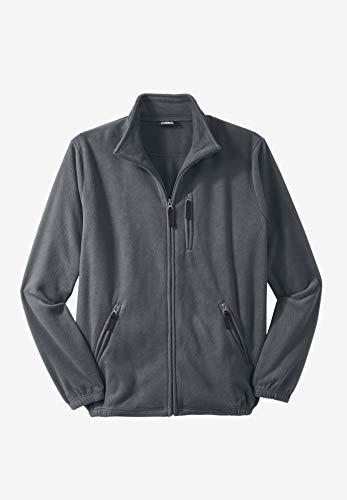 KingSize Mens Big & Tall Full-Zip Fleece Jacket
