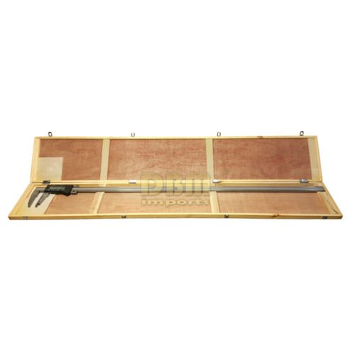 Heavy Duty Stainless Steel 60'' Electronic Digital Caliper & Wooden Storage Case by DBM IMPORTS