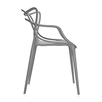 2xhome Master Grey Dining Chair