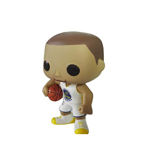 ZAMTAC POP NBA Star Lebron James Kobe Curry Irving Wall Desk Model Doll Action Figure Collectible Model Toy for Boys Gift - (Color: Stephen Curry 01)