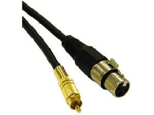 C2G 40051 1.5FT PRO-AUDIO XLR FEMALE TO RCA MALE CABLE