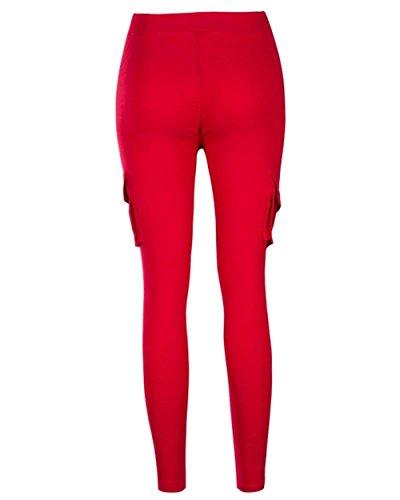 Tasca Pantaloni Colori Multi Training Rot A Elegante Tempo Lunghe Women Tuta 2 Libero Grazioso Primaverile Solidi Pantaloni Pants Matita Con Coulisse Skinny Donna Pantaloni Pantaloni Giovane C7BwZqY