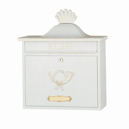 HEIBI (ハイビ) クラシカルポストA 郵便ポスト 壁掛けタイプ 鍵付き おしゃれ アンティーク 大型 北欧 ポスト 郵便受け ホワイト B01JS7HNGE 29160 ホワイト/ゴールド ホワイト/ゴールド