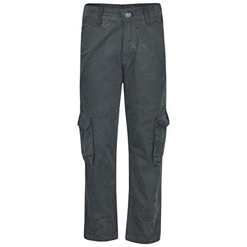 - Kids Boys Youth BDU Ranger 6-Pocket Grey Combat Cargo Trousers Fashion Pant 5-13
