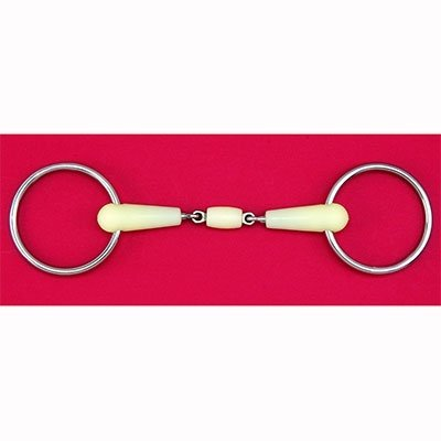 Happy Mouth Double Jointed Loose Ring Snaffle Bit - Color:None Size:5