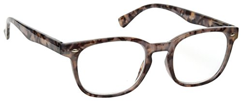 The Reading Glasses Company Grey Tortoiseshell Wrap Readers Gregory Peck Style Mens Womens Inc Bag R14-7 +3.50 (Companies Glasses Frames)