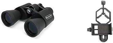 Celestron UpClose G2 10×50 Porro Binocular, 71256 with Basic Smartphone Adapter 1.25