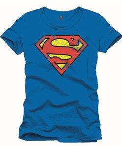 Superman-Camiseta-Classic-Vintage-Logo-DC-Comics-Camiseta-tamao-XL