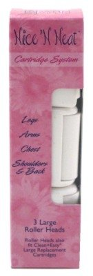 Satin Smooth Nice N Neat Roller Heads Large 3 Count (6 Pack)