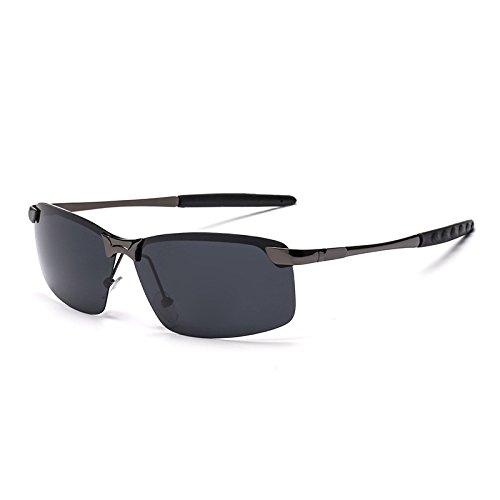 de Retro Mujer y Gafas Gun de clásicas Gun Reflectantes de Gafas Mirror Black Gafas Box Frog Gray Hombre Black Sol Sunglasses Color Sol Gray Box CTxpq5w8OO