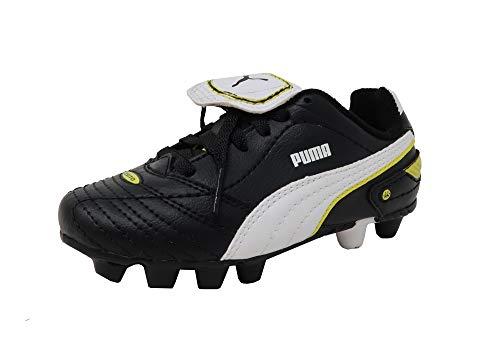 PUMA Kid's Esito Finale R HG JR Black White Yellow Soccer Cl