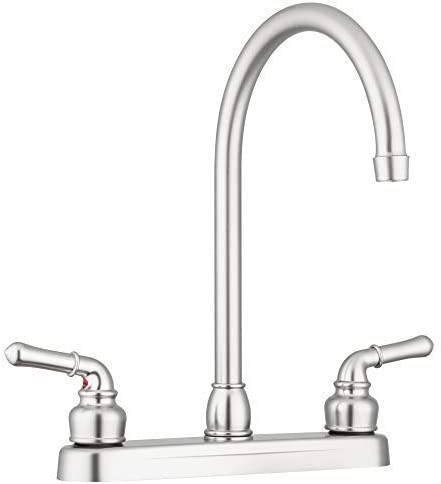 Pacific Bay Lynden Kitchen Faucet (Satin Nickel Plating Over ABS Plastic)