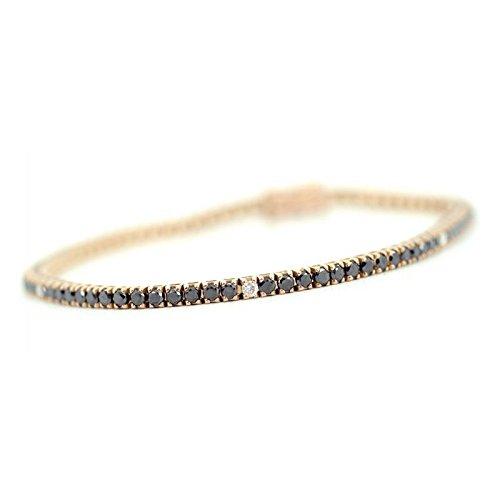 Bracelet Tennis Recarlo Tennis zs420/rn18 Or Rose Diamant