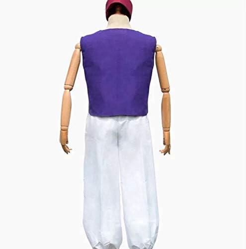 gilet e pantaloni perfetti per il carnevale taglia unica 160-180cm carnevale e cosplay cappello Set di costumi Aladdin 3 pezzi per uomo