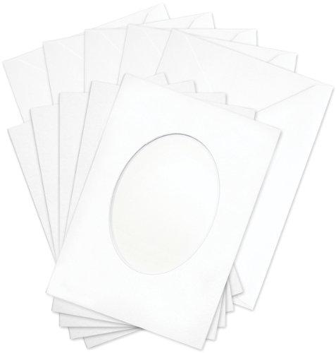 Aperture Cards - Flower Soft Oval Aperture Cards/Envelopes Set 1 pcs sku# 982066MA