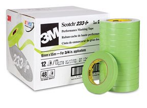 (3M 26334 Crl 3M 3/4 Inch Automotive Performance Paint Masking Tape, Green)