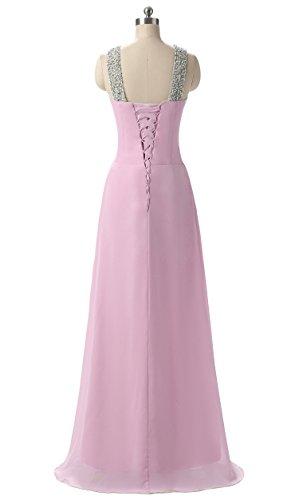 Damen Rosa Brautjungfer Abend Kleider Beaded Prom Kmformals Fw6qfRZx