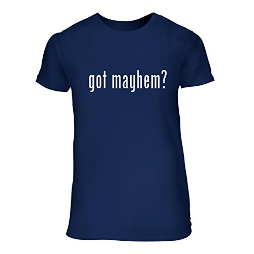 got mayhem? - A Nice Junior Cut Women's Short Sleeve T-Shirt, Blue, - Mayhem Allstate
