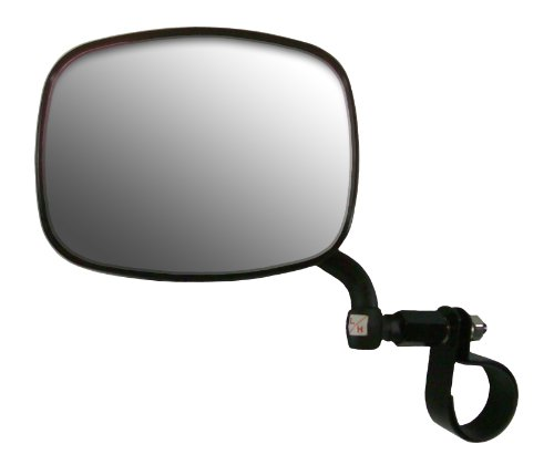 CIPA M37 UTV Side View Mirror (Black) fits Rollcage diameters from 1-3/4