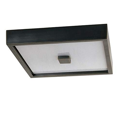 - Robert Abbey Z152 Flush Mounts with Marbleized Glass Shades, Deep Patina Bronze Finish
