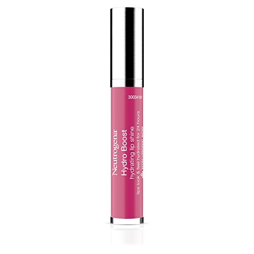 Soft Raspberry - Neutrogena Hydro Boost Hydrating Lip Shine, Vibrant Raspberry 60, 0.10 Ounce