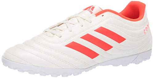 (adidas Men's Copa 19.4 Turf, Solar red/Off White, 12 M)