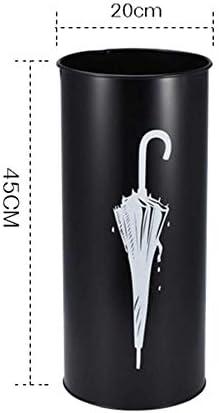 Giow Schirmständer aus Schmiedeeisen, handbemalt, große Kapazität, einfache Aufbewahrung, modisch, für Zuhause (Farbe: Grau) Grau