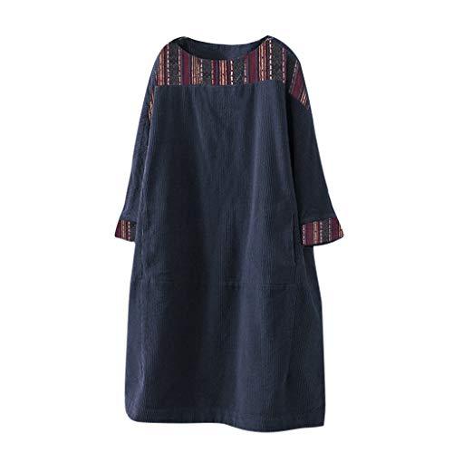 ⭐LIM&SHOP⭐ Retro Loose Tops Blouse Women's Vintage Corduroy Jacquard Blouses Cotton Linen Ethnic Print T-Shirt Patchwork