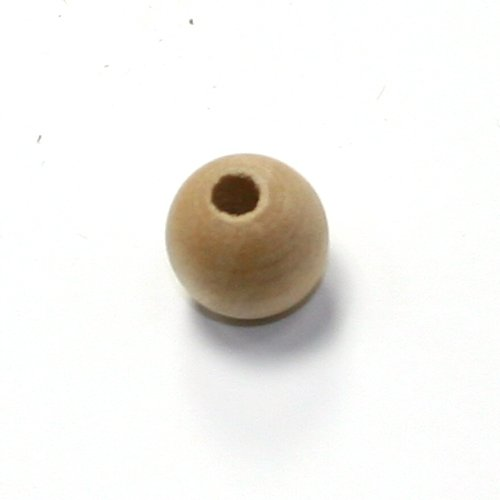Mylittlewoodshop - Pkg of 100 - Bead Round - 3/8 inches in diameter and 5/32 hole unfinished wood(WW-BE1020-100) (Metallic Wood Bead)