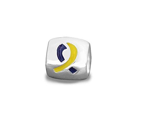 Yellow Awareness Ribbon Charm - 5