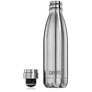 Cayman Fitness Double Walled Vacuum Insulated Stainless Steel Water Bottle - 17 oz