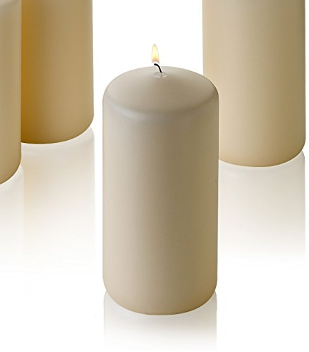 Vanilla Square Pillar (1 French Vanilla Pillar Scented Candles 6