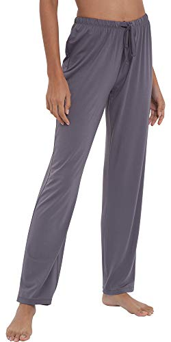 GYS Women's Bamboo Sleep Pants, Small, Dark Grey