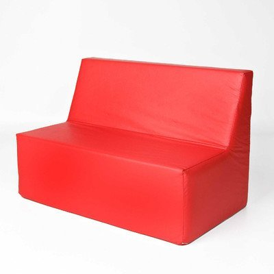 Foamnasium Straight Back Sofa, Red by Foamnasium