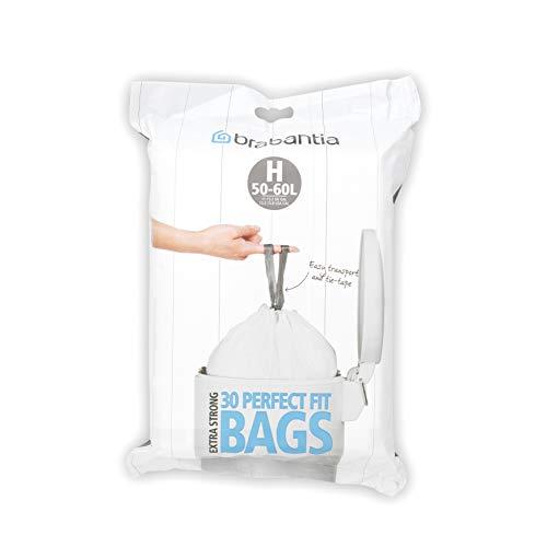 Brabantia Dispenser Bin Liners / Trash Bags, Size/Code H, 50-60 Litre, 30 Bags, 375705