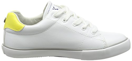 IKKS William - Zapatillas de deporte Niños Blanco - Blanc (18 Vte Blanc/Jaune Dpf/Vulca)