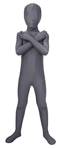 Sheface Kids Spandex Full Bodysuit Fancy Dress Costume (Small, Dark (2 Face Fancy Dress Costume)