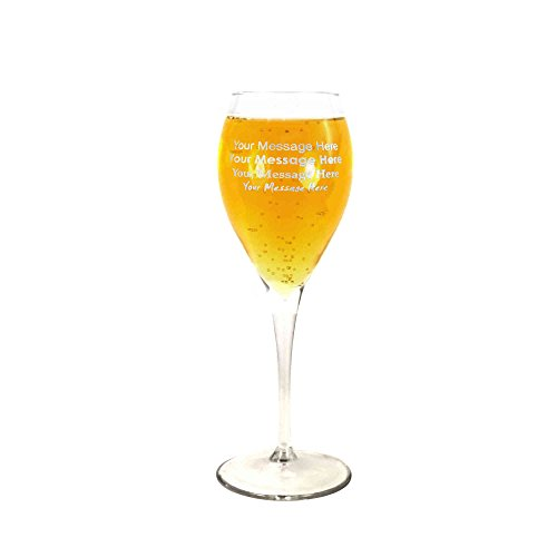 Monte Carlo Wine - Tuff Luv Personalised/Engraved Classic 9Oz Monte Carlo Large White Wine Glass Celebration/Special Occasion/Toast