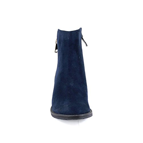 Reneeze Pama Womens Ankle Heels Fashionable Booties 1 Navy Stacked BBrwqFd