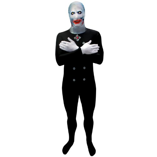 Morphsuits Premium Scary Dracula, Multi, X-Large Skinsuit -