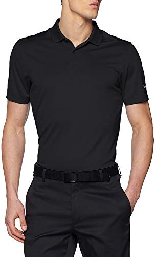 Nike Men's Dry Victory Solid Polo Golf Shirt, Black/Cool Grey, Small (Outdoor Polo)